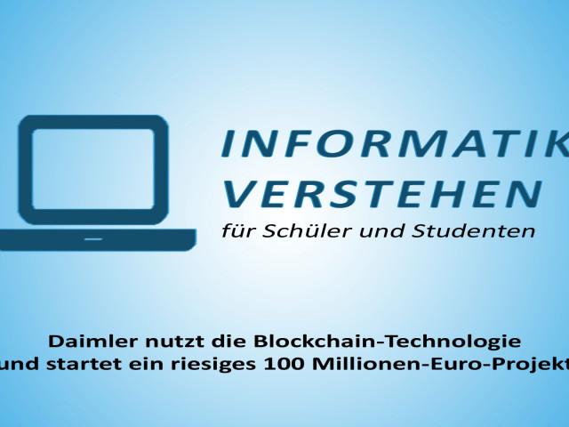 Daimler startet riesiges Blockchain-Projekt | Informatik Blog