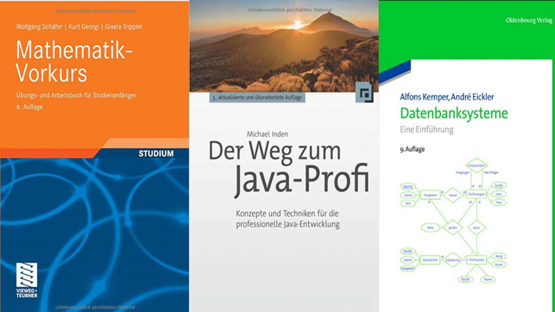 Drei Bücher für das Informatik-Studium | Informatik Blog