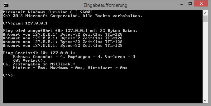 Einfaches Ping Beispiel auf Informatik-verstehen.de